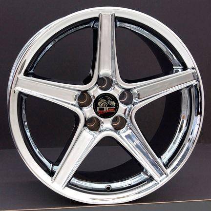 18 9/10 Chrome Saleen Wheels Rims Fit Mustang® 94 04