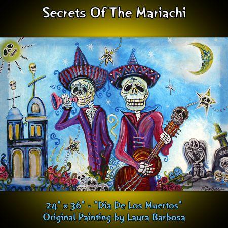 Day Of The Dead, Dia De Los Muertos, Mexican FOLKART Mariachi Band