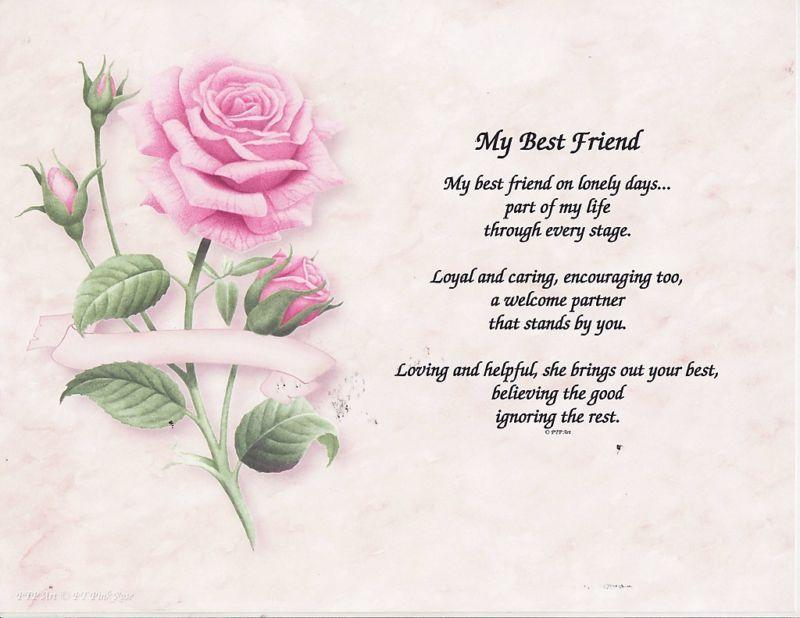 MY BEST FRIEND POEM PERSONALIZED NAME PRINT PRAYER