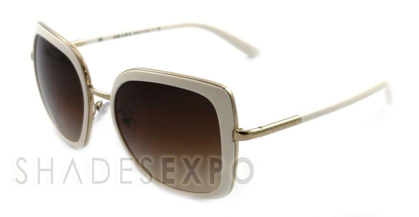 NEW Prada Sunglasses SPR 59M WHITE ZVA 6S1 SPR59M AUTH