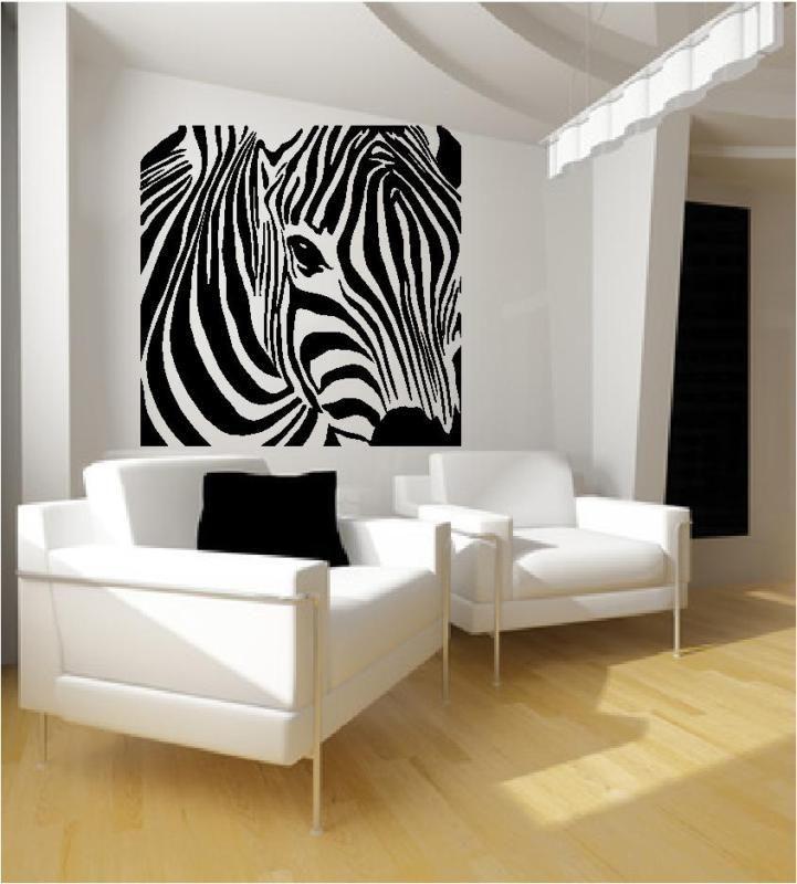 zebra wall art decals stickers vinyl wallpaper image zebra barcode animal wall sticker world of wall stickers