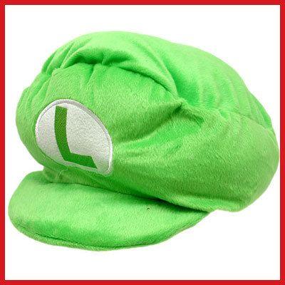 Nintendo Super Mario Bro LUIGI Plush Hat Cushion/Pillow