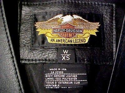 Harley Davidson Vest & Black Leather Pants ~ XS / 26