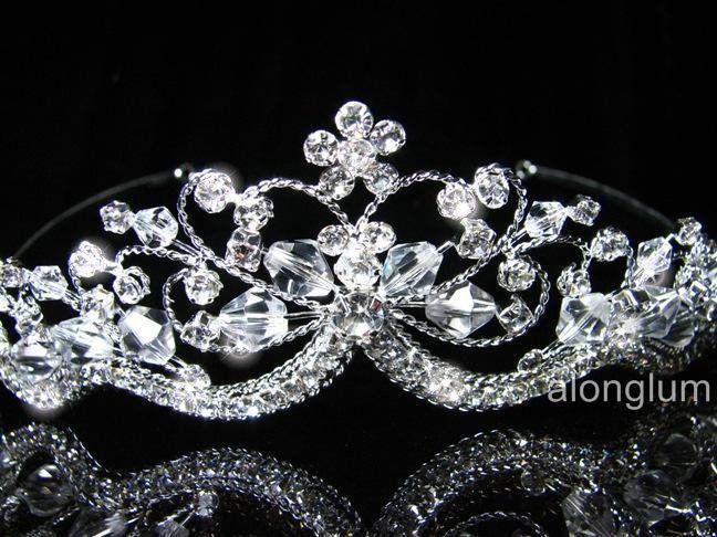 A337 Wedding Bridal Bridesmaid Prom Flower Swarovski Crystal
