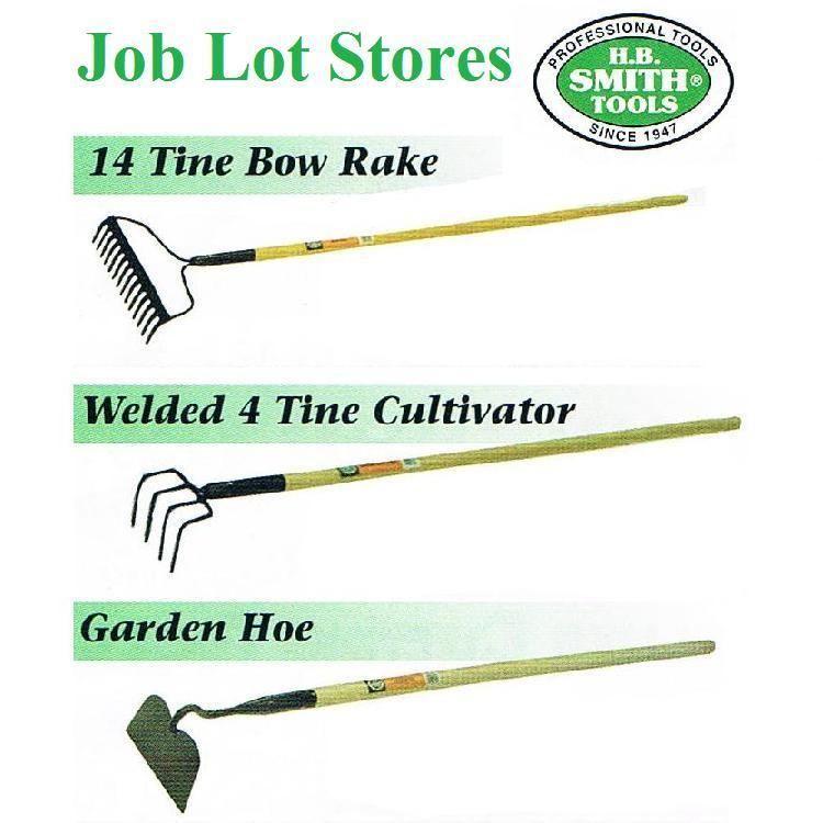 Landscape Rake Vs Cultivator : Bow rake tine cultivator garden hoe tools